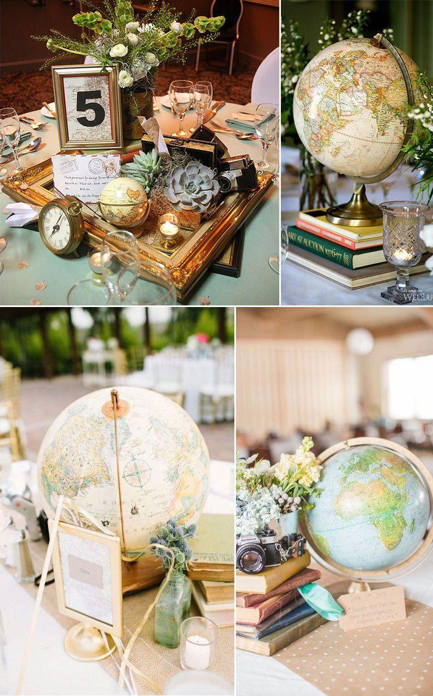 Diy vintage wedding decoration ideas   Creative Travel Themed Wedding Ideas That Inspire  Wedding
