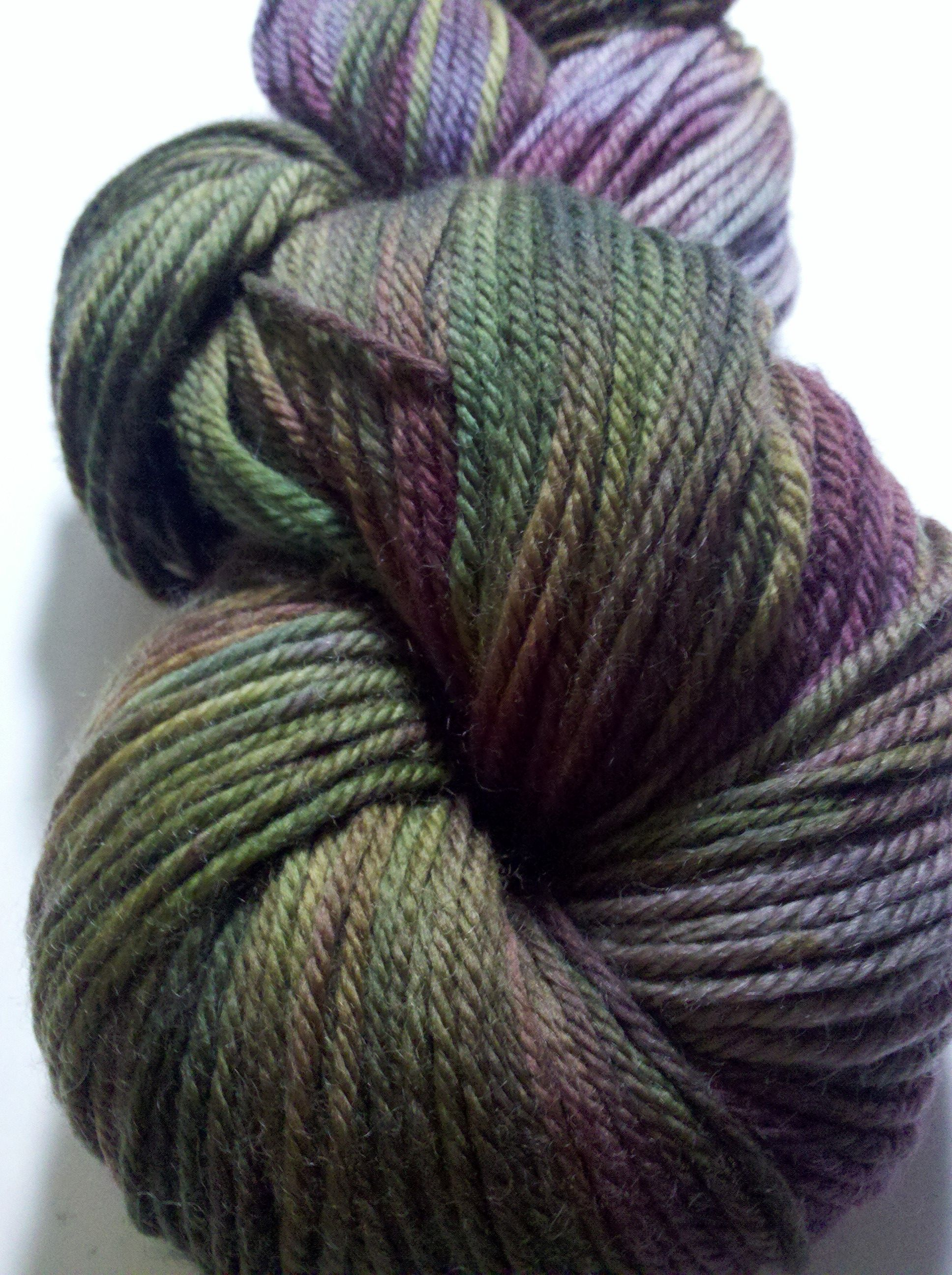 Goblin Queen in Socket sock yarn, 100% superwash merino
