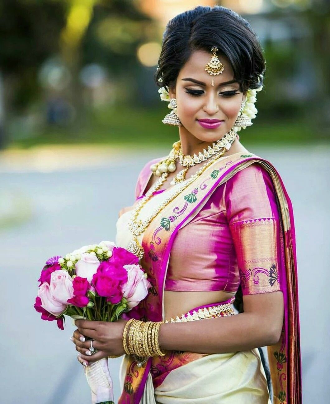 Tamil Bride Hairstyle: Pin By Miguel Candelaria On Ramya Sri