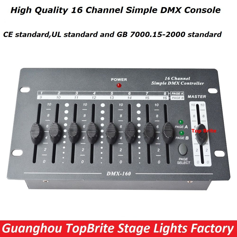 2017 Factroy Price New Arrival 1xlot 16 Channels Simple Dmx Controller Dmx 512 Console For Stage Dj Disco Lighting Free Dj Lighting Dj Equipment Stage Lighting