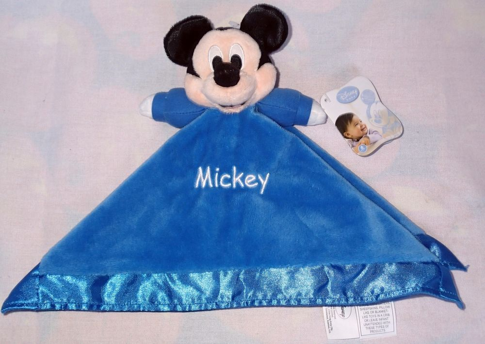 Baby Boy Disney Baby Mickey Mouse  Security Blanket Navy