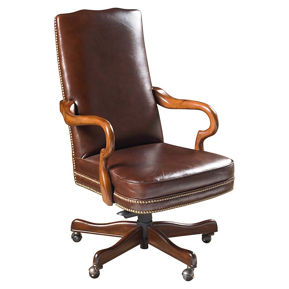 Delicieux Brown Leather Executive Office Chair