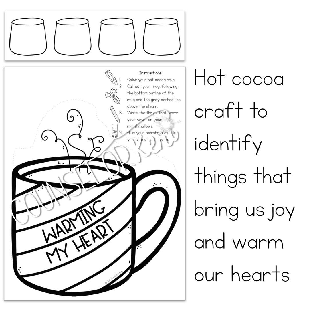 Winter Mindfulness Activity And Winter Craft To Express