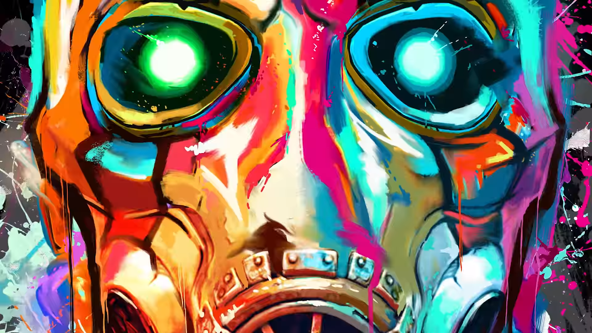 Borderlands 3 Colorful Psycho Mask From Trailer