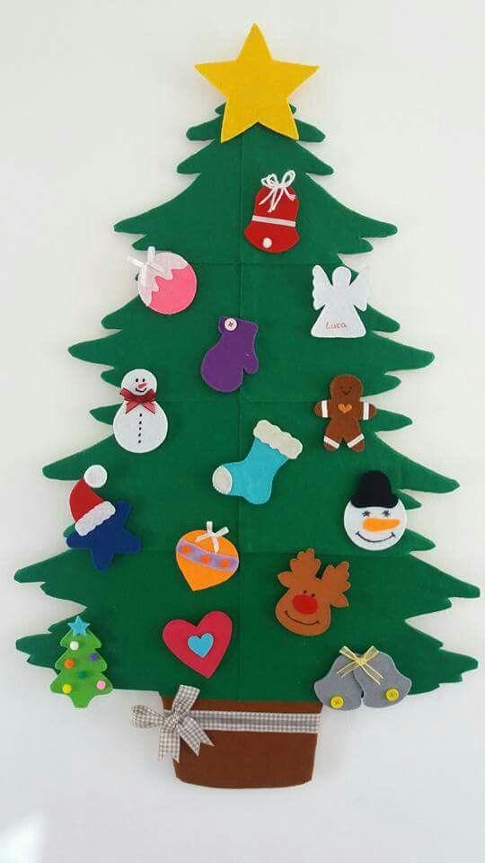Pin de elizabeth armenta en decoraci n manualidades - Arboles de navidad manualidades navidenas ...