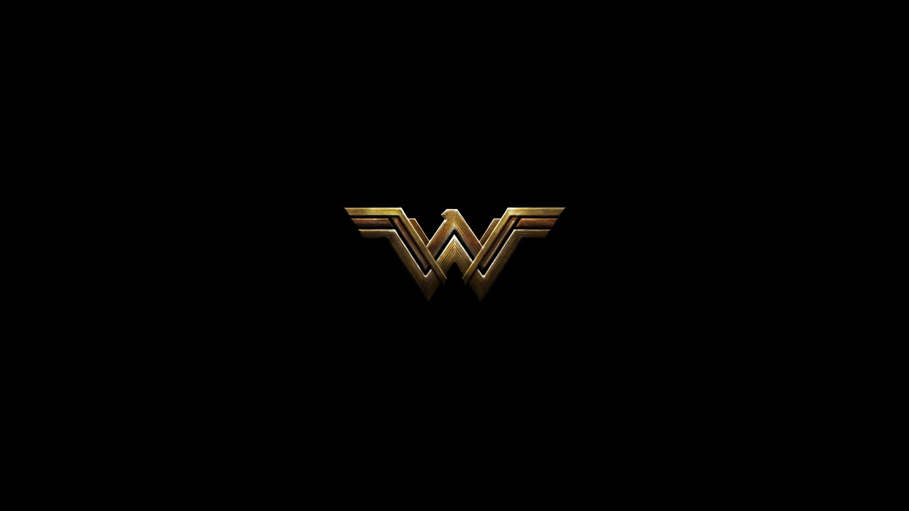 Wonder woman dark minimal logo wallpaper