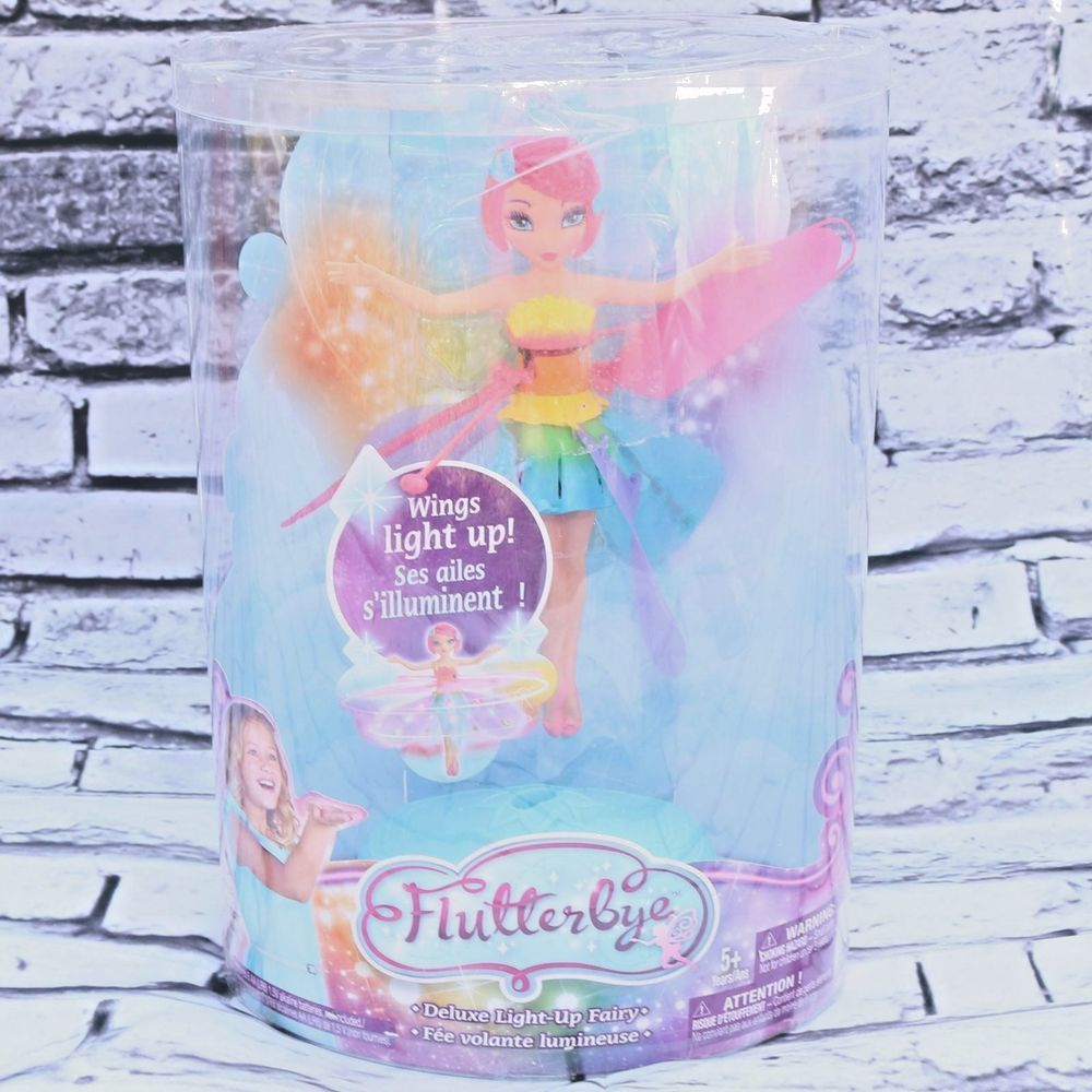Flutterbye Flying Fairy Doll Dawn Pink Hair Sealed In Box Box Shows