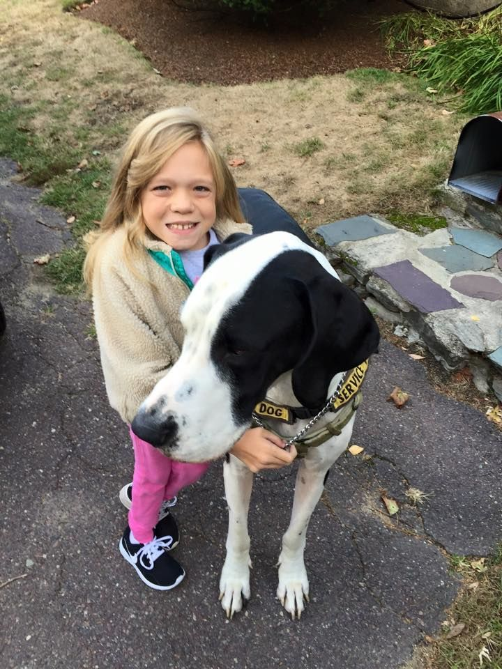 Meet The Great Dane Giving This Little Girl With A Rare Genetic