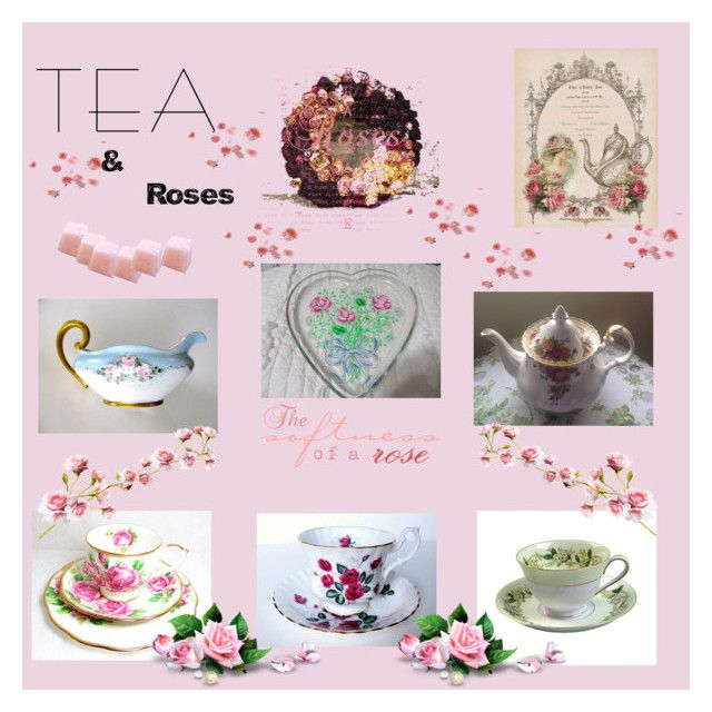 Tea and Roses... by lizzysbibsandbobs on Polyvore featuring polyvore interior interiors interior design home home decor interior decorating Noritake Royal Albert vintage