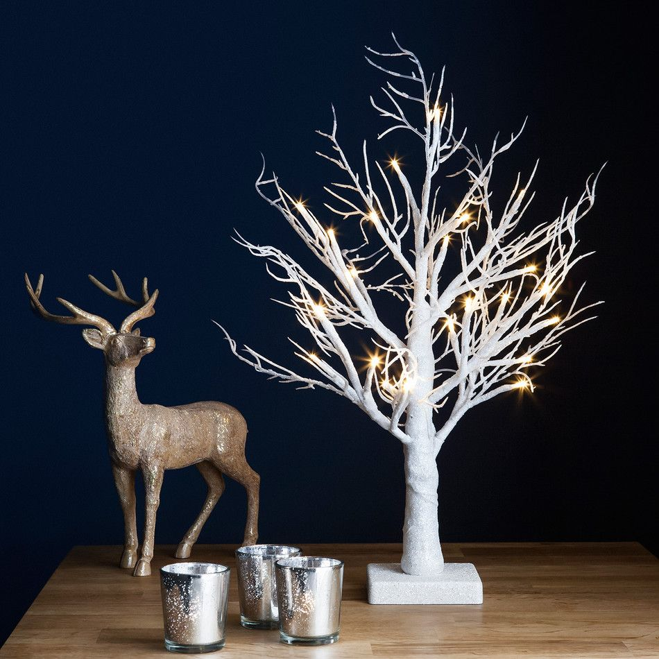 Pre lit white glitter led twig tree lights4fun trunk pre lit white glitter led twig tree lights4fun mozeypictures Images
