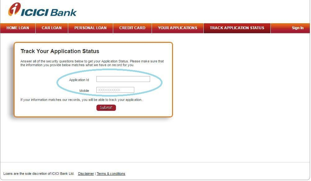 How To ApplyTrack Check Icici Credit Card Application Status