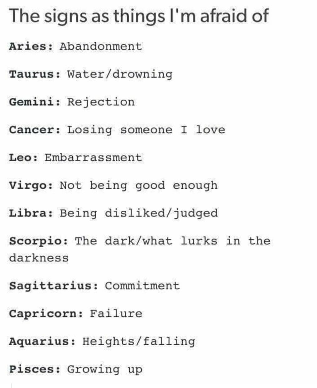 Signs scary zodiac 3 Of