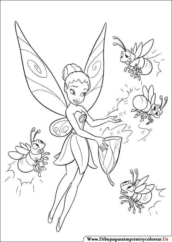 Dibujos de Campanita para Imprimir y Colorear | Dibujos para ...