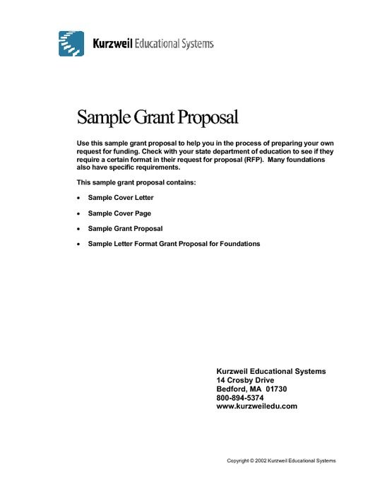 Sample Grant Proposal Non Profit template Pinterest Grant