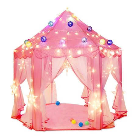 pink indoor play tent