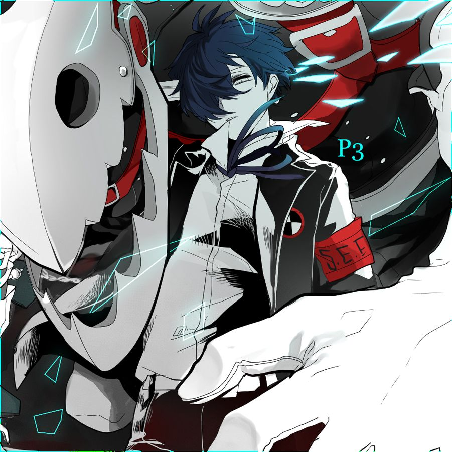Artist Noppo Shin Megami Tensei Persona 3 Thanatos Yuuki Makoto Persona 3 Thanatos Persona Shin Megami Tensei Persona