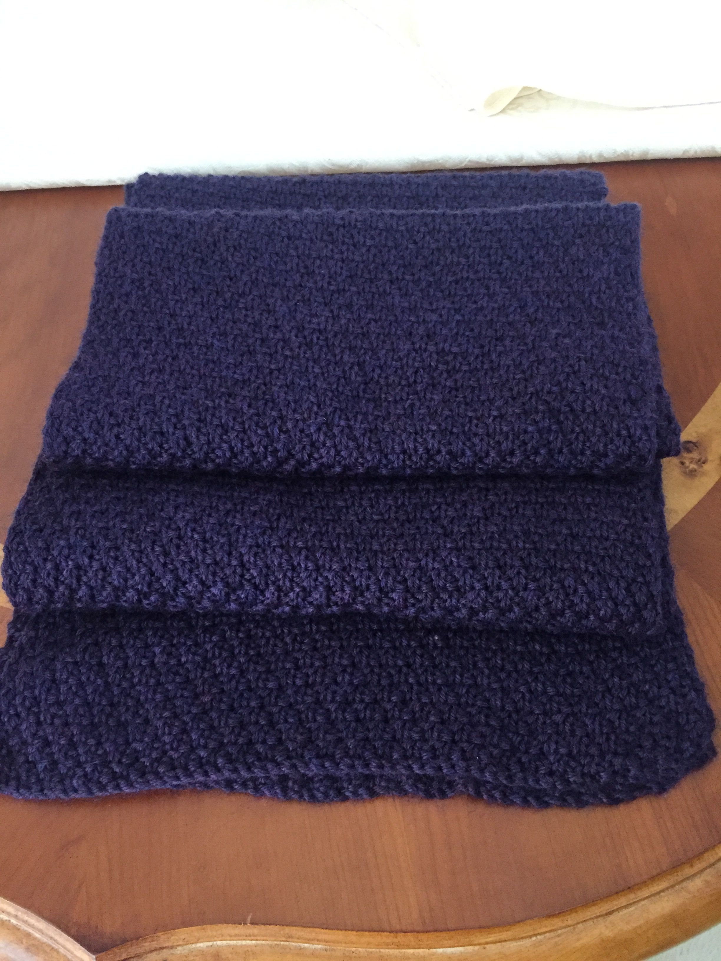 Double seed stitch scarf. Purlbee pattern   Cowls & Scarves ...