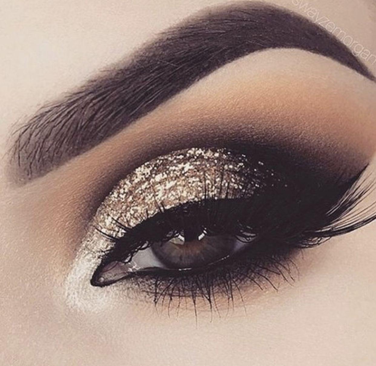 Sombra de ojos glam #browneyeshadow Heavy glam – mezcla de tonos marrones cálidos y fríos …