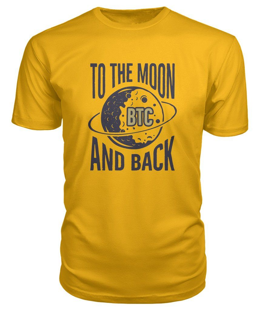 Bitcoin T Shirt Moon Cryptocurrency Clothing Shirts, T