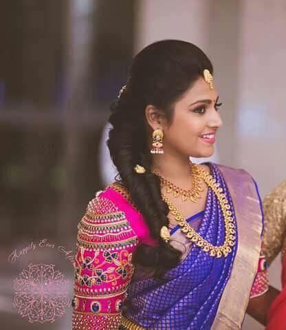 238f5991bfa477 Love the purple amp fuschia combo indian blouse wear sarees also pin by  ramesh on weddings