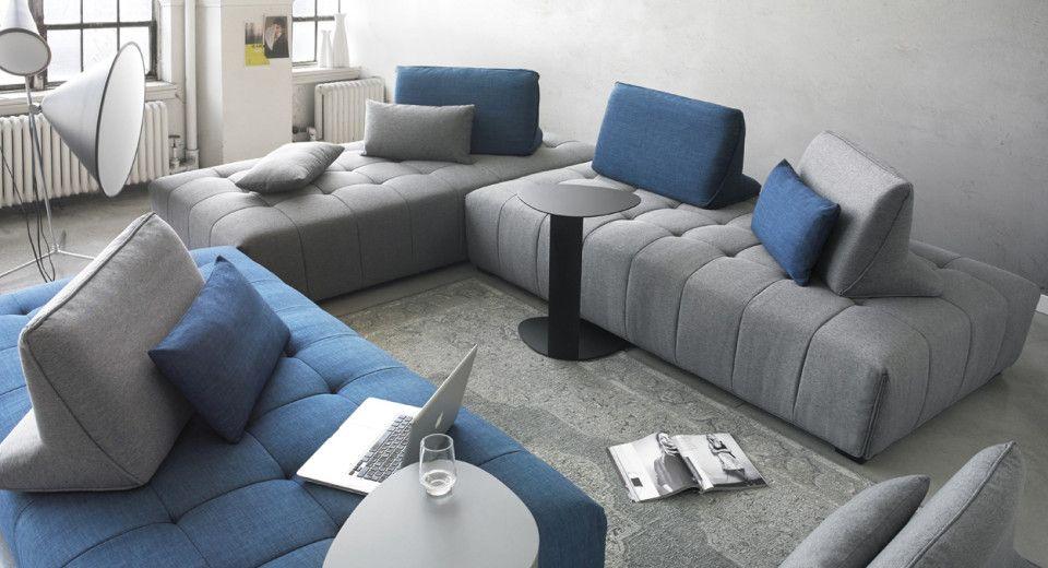 tissu gris ou bleu 2 dossiers et 2 coussins amovibles. Black Bedroom Furniture Sets. Home Design Ideas