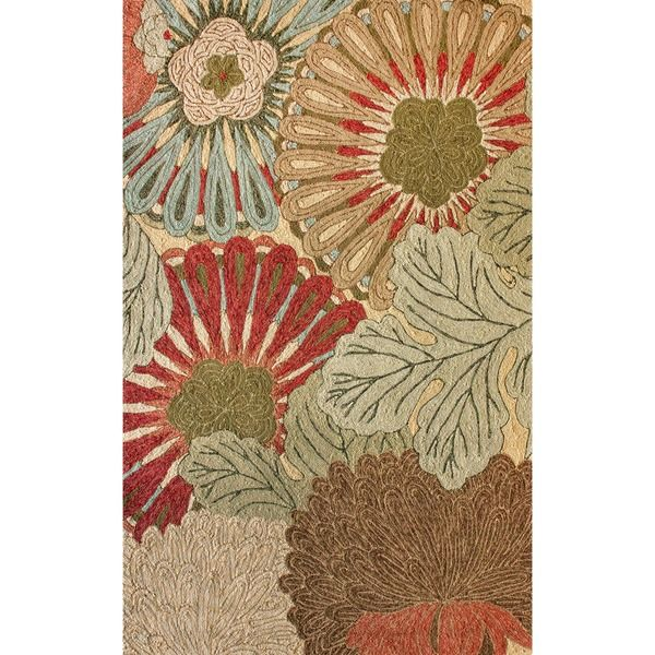 nuLOOM Handmade Indoor/Outdoor Floral Rug (5' x 8')