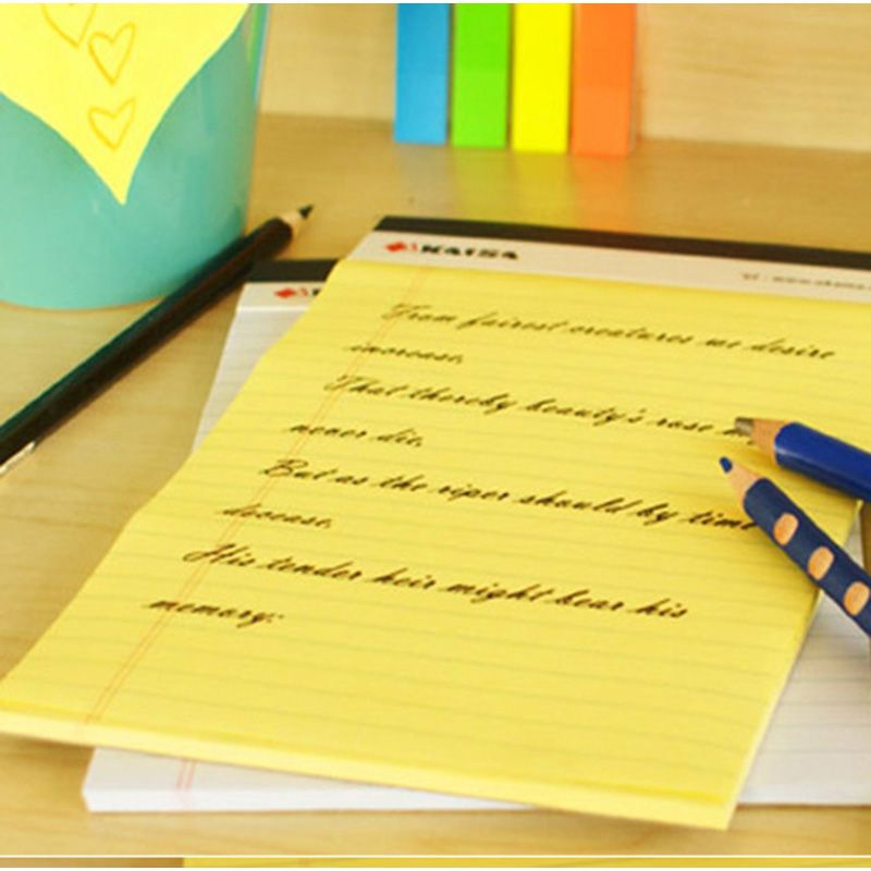 A4 Memo Pad Notepad USA style Legal pad 50 sheets* 2PCS Notebook - legal memo