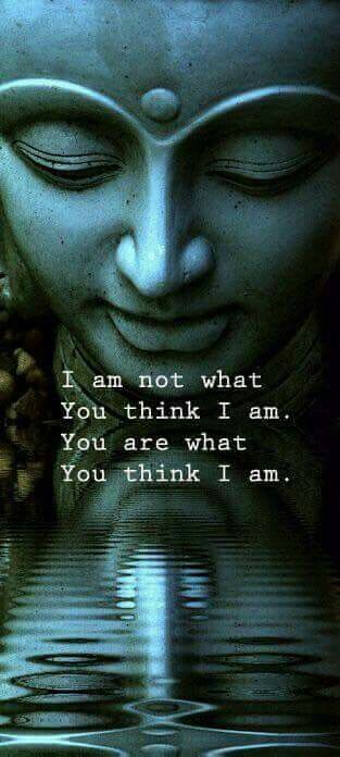 I am not what you think I am. You are what you think I am ❤