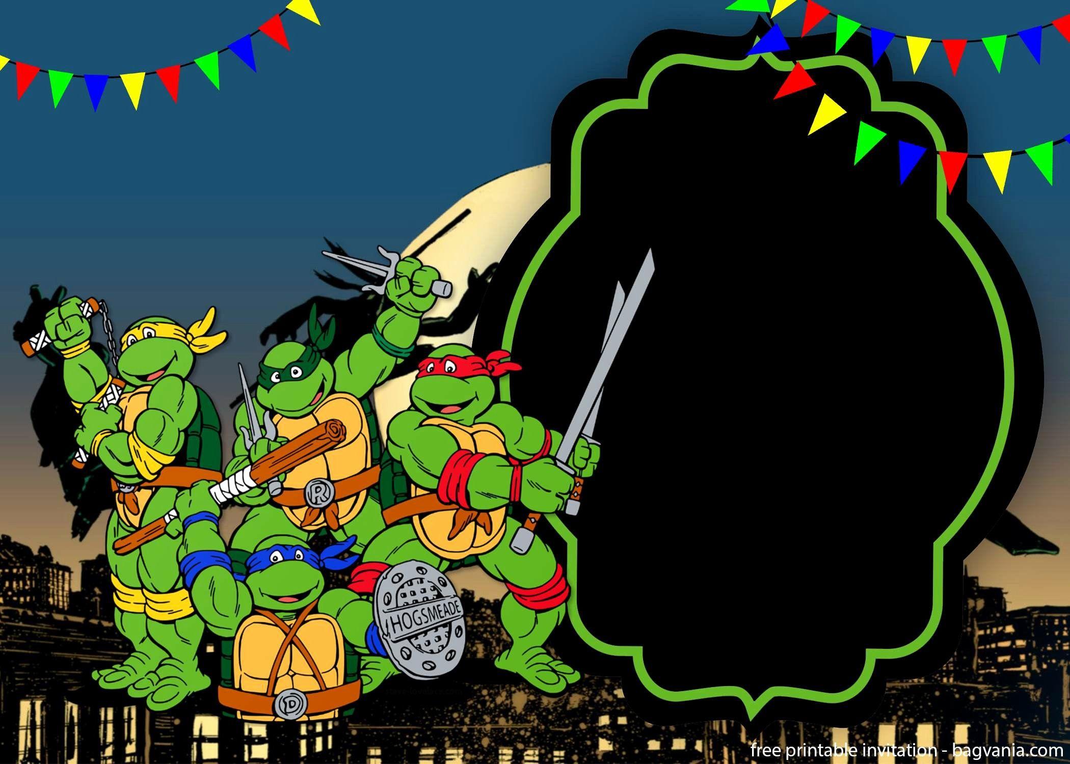 Ninja Turtles Birthday Invitation Template Fresh Teenage Mutant Ninja Turtles Invita Ninja Turtle Invitations Turtle Birthday Invitations Ninja Turtle Birthday
