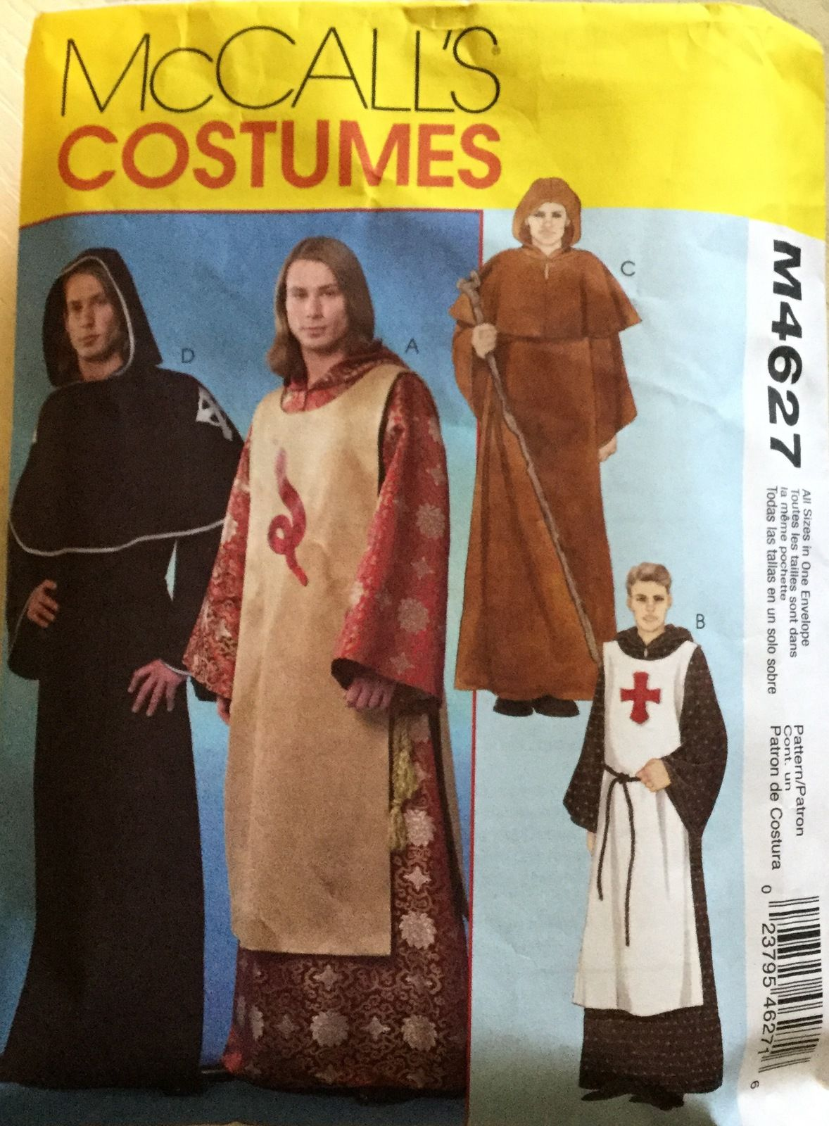 Mccalls m4627 mens medieval costumes sizes small xlarge mccalls m4627 mens medieval costumes sizes small xlarge butsewing patterns jeuxipadfo Images
