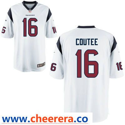 60a98e76e59 ... low price mens houston texans 16 keke coutee white road stitched nfl  nike game jersey 6f4c8