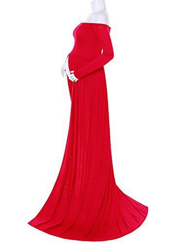 Maternity Chiffon Gown Split Front Maxi Photography Dress for Photo Shoot