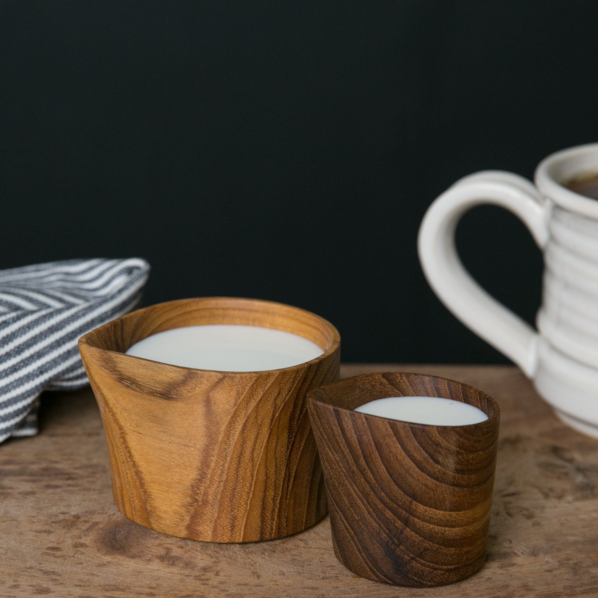 Teak Creamers   Magnolia Market   Chip U0026 Joanna Gaines. Our Teak Creamers  Are A Set Of Teak Wood Creamers. These Two Petite Creamers Have A Natural  Wood ...