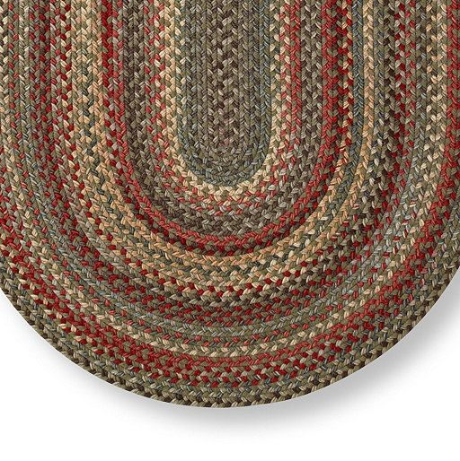 Braided Wool Rug, Oval In 2019