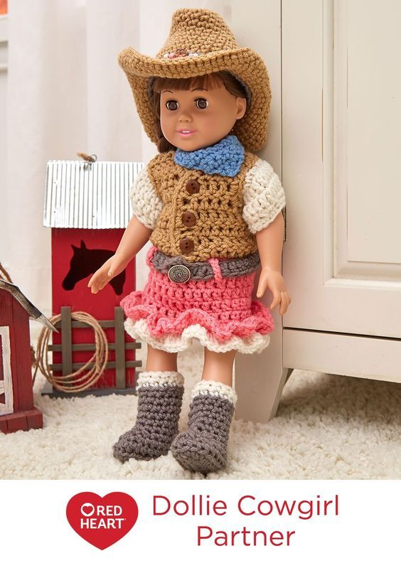 Dollie Cowgirl Partner Free Crochet Pattern in Red Heart Yarns ...