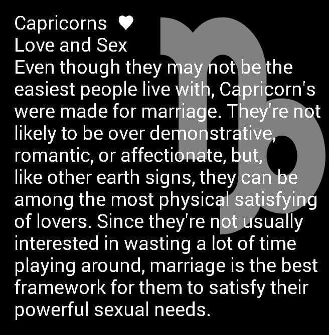 Capricorn on love and sex