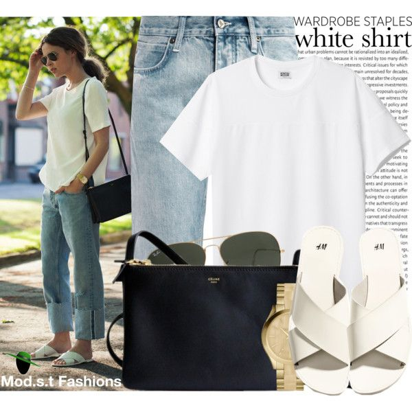 """""""...in a white tee!!"""" by modestyfashions on Polyvore"""