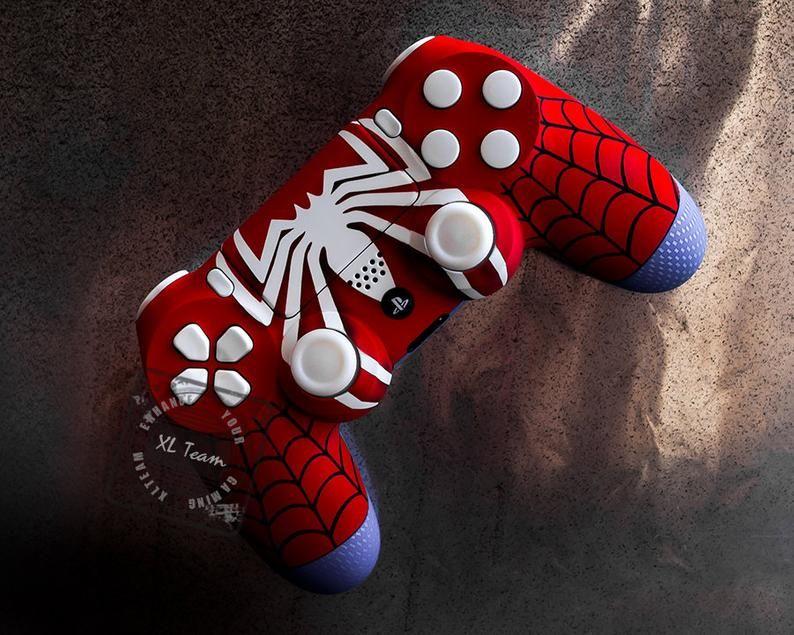 Custom spiderman themed playstation 4 ps4 dualshock 4