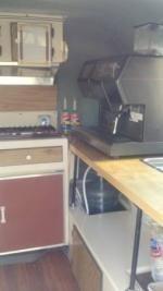 1986 13' Scamp, Mobile Espresso Vending Concession; Nuova Simonelli Master Cappuccino Superautomatic HX machine.