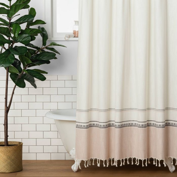 Ombre Shower Curtain Copper Hearth Hand With Magnolia Brown