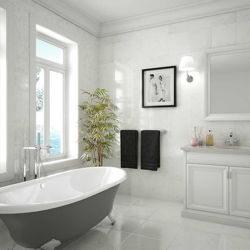 Carrara Hd Ceramic Wall Tiles By Roca Porcelain Flooring Stylish Bathroom Flooring