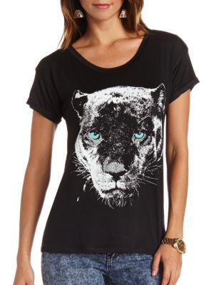 Bling panther graphic tunic Clothes for women Clothes