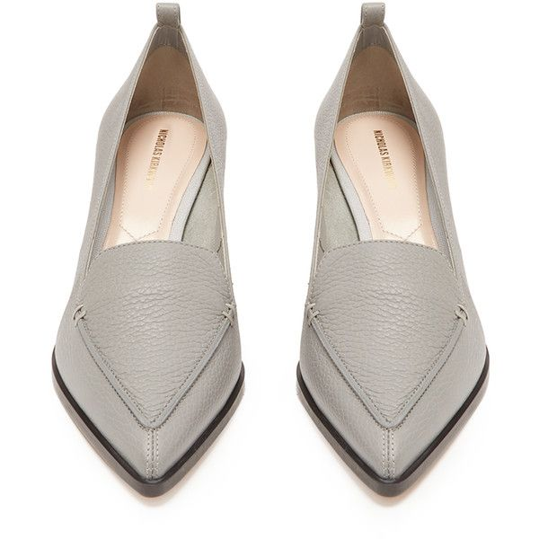 fb3779c99f6 Nicholas Kirkwood Beya grained-leather block-heel pumps (38.975 RUB) ❤  liked on Polyvore featuring shoes