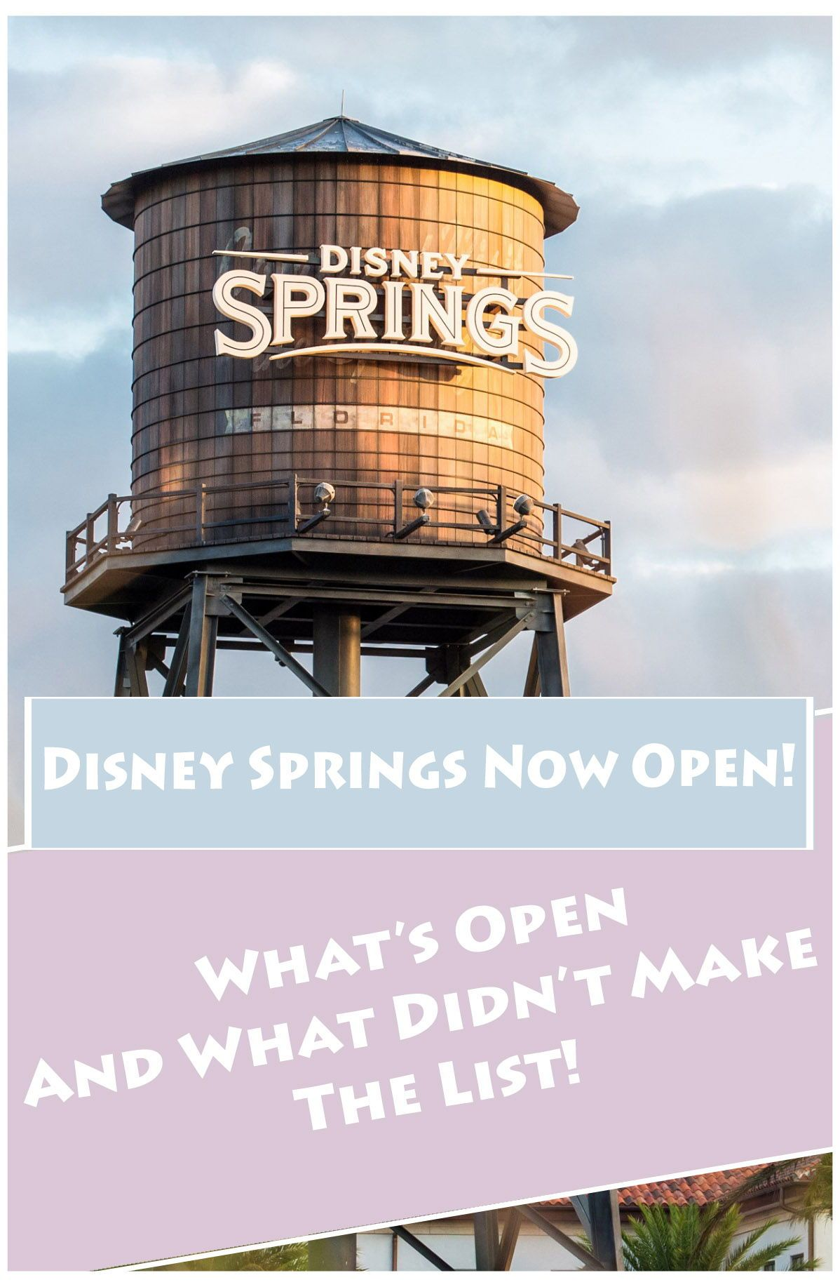 Disney springs is now open in 2020 disney world tickets