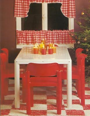 I think we had that table & chairs in my childhood home, but the table was also red.. (by Asko, Finland ... the blog behind the link is in Finnish, should anyone want to use Google Translate)