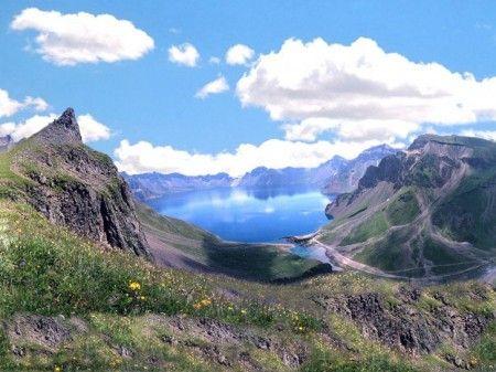 Heaven Lake: a crater lake along the border between China and North Korea