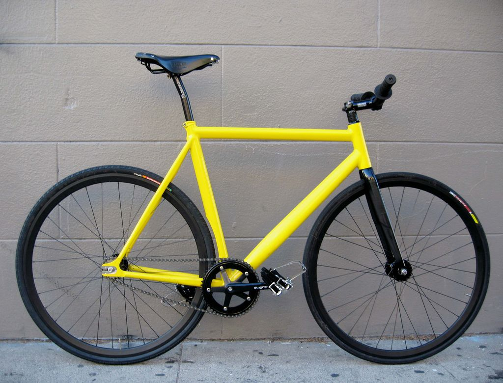 Black And Yellow Black And Yellow Bici Fixie Bici Bicicletas