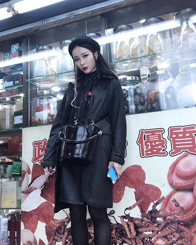 Just chilling outside a Chinese pharmacy with my @rabeanco bag  - Photo by @mart_yeung  via BOLD SHOP HONG KONG OFFICIAL INSTAGRAM - Celebrity  Fashion  Haute Couture  Advertising  Culture  Beauty  Editorial Photography  Magazine Covers  Supermodels  Runway Models