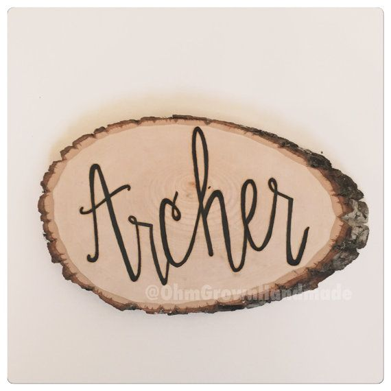 Handlettered Hand Wood Burned Personalized Rustic Sign by OhmGrown