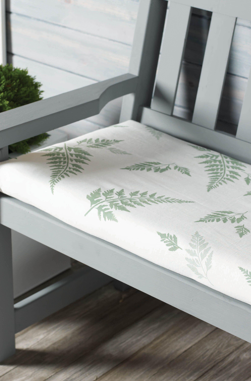 FernStenciled Outdoor Seat Cushion Outdoor seat